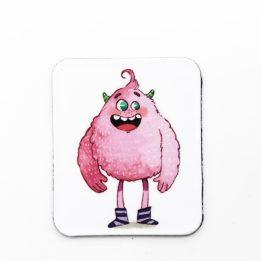 Magnet mascotte rose ouikili