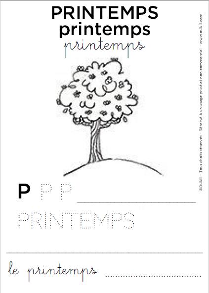 Coloriage Pedagogique Gratuit A Imprimer Le Printemps Ouikili